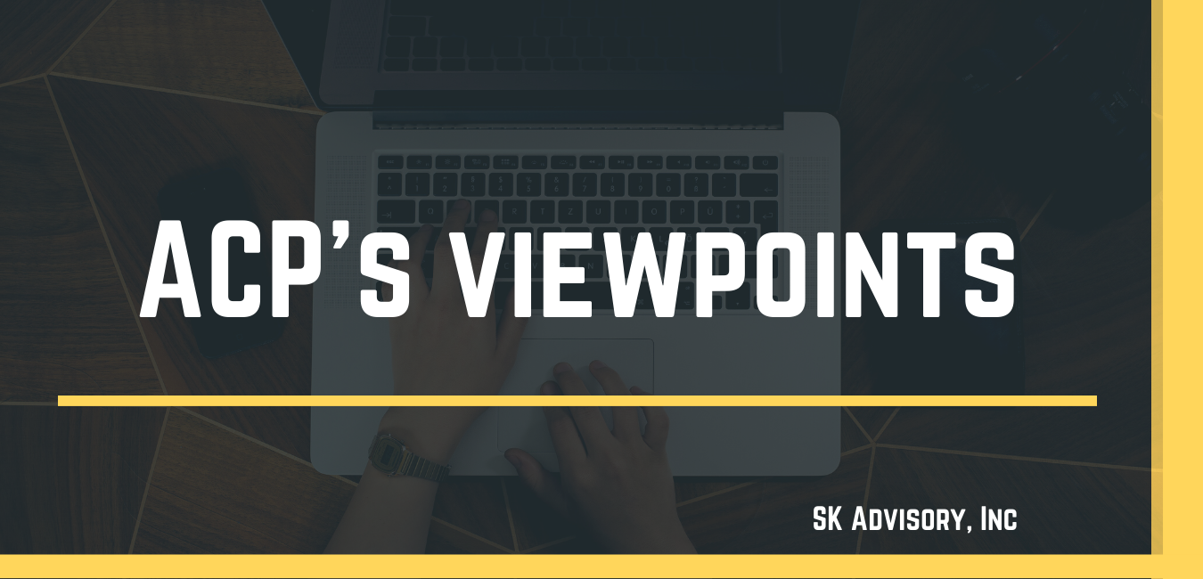 ACP's viewpoints
